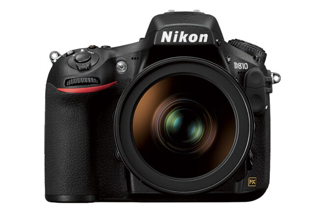 The Nikon D810 has a high-quality 36 megapixel sensor, base ISO 64, and 5 FPS shooting (7 FPS in DX mode with battery grip). It is geared toward landscape photographers, and though it has been replaced by the Nikon D850, it is not yet discontinued.