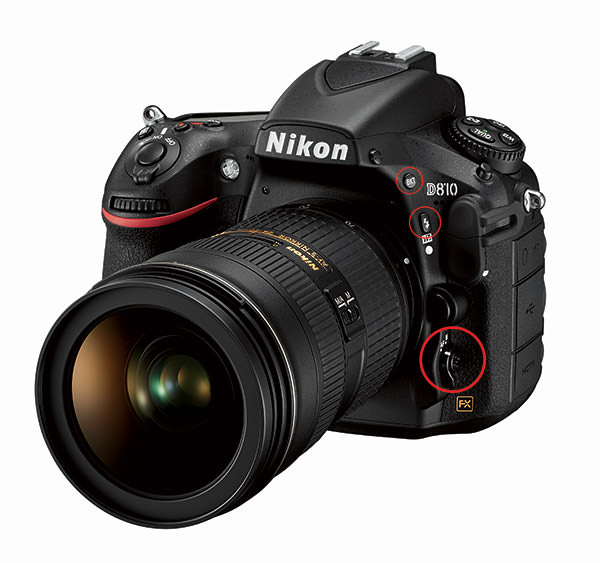 Nikon D810 Front