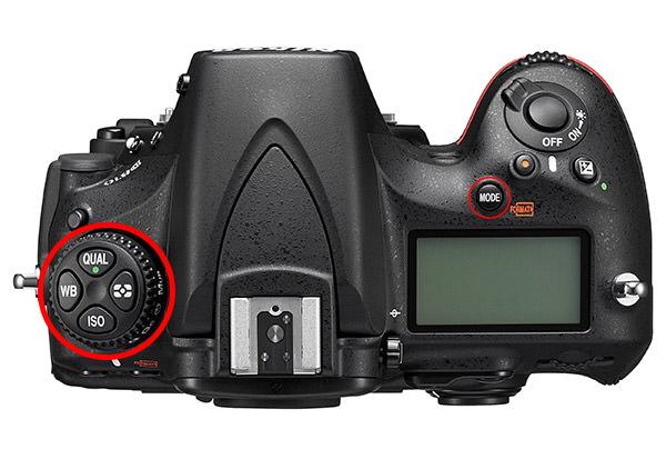 Nikon D810 Top