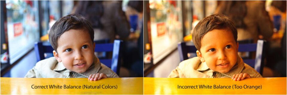 White Balance - Correct vs Incorrect