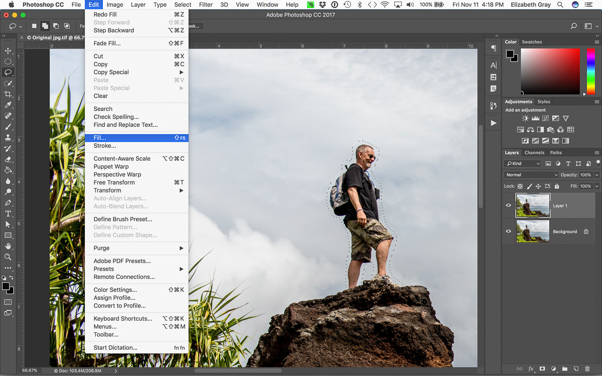 Using Content Aware Fill Non Destructively In Photoshop