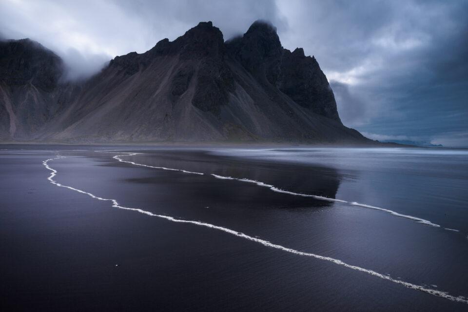 Dark landscape photo