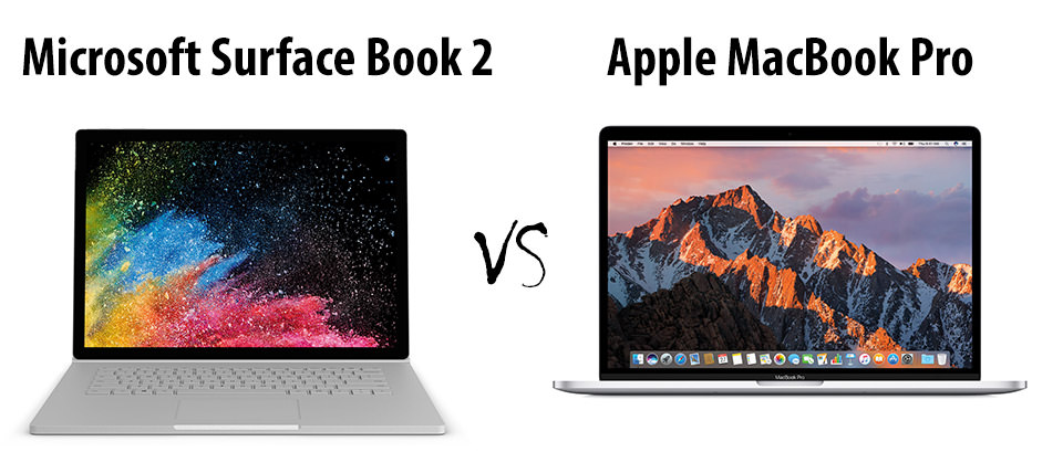 Microsoft Surface Book 2 Vs Apple Macbook Pro