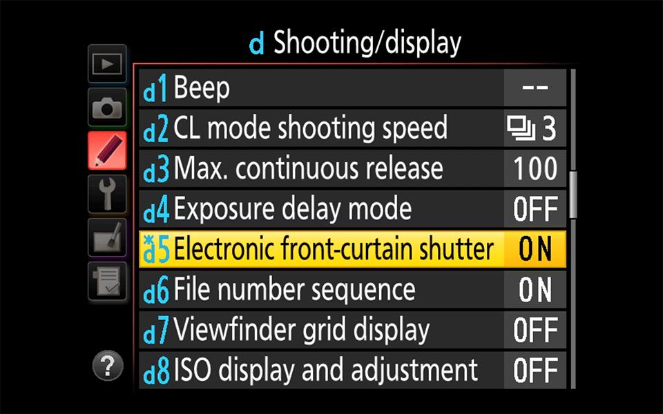 Nikon Electronic Front Curtain