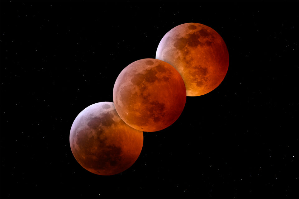 Total Lunar Eclipse Phases
