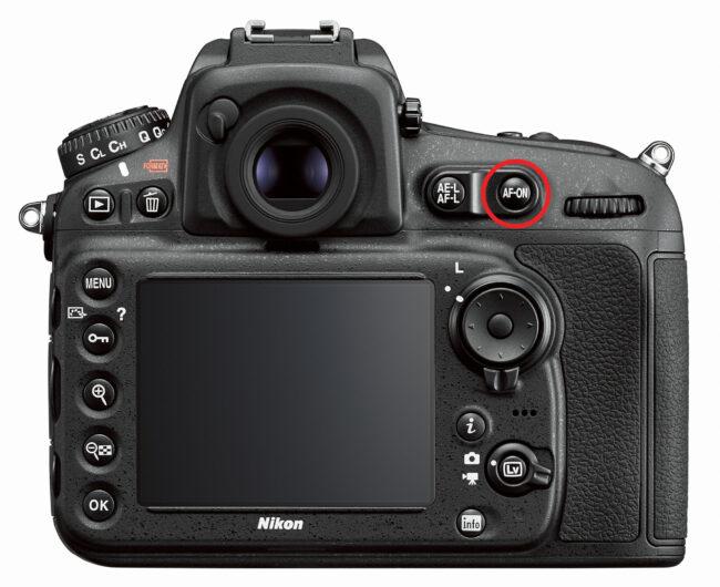 AF-On Button on a Nikon DSLR
