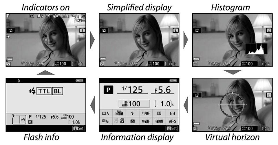 Nikon Z6 II DISP Button Modes