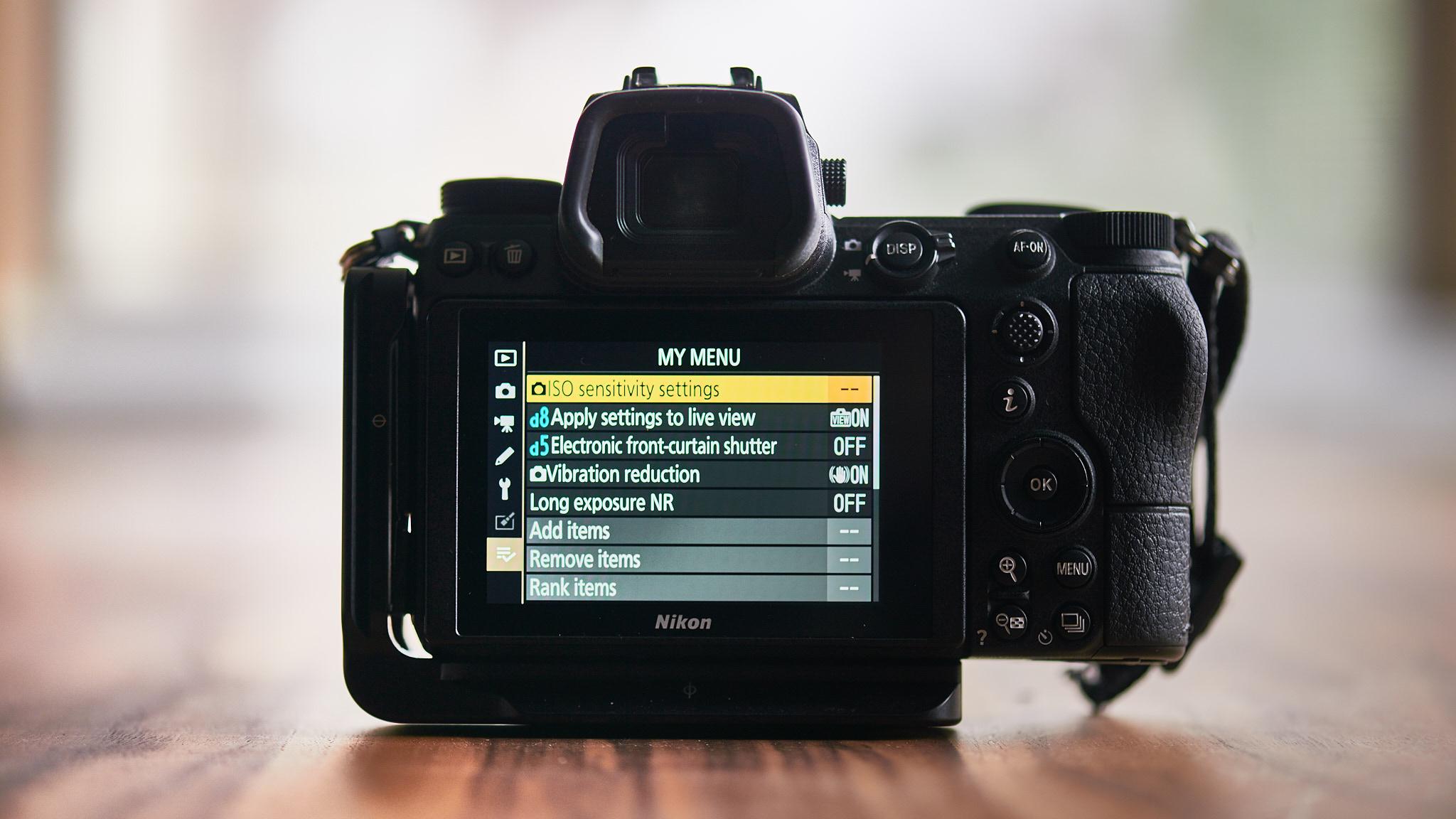 Custom Menu on Nikon Z7