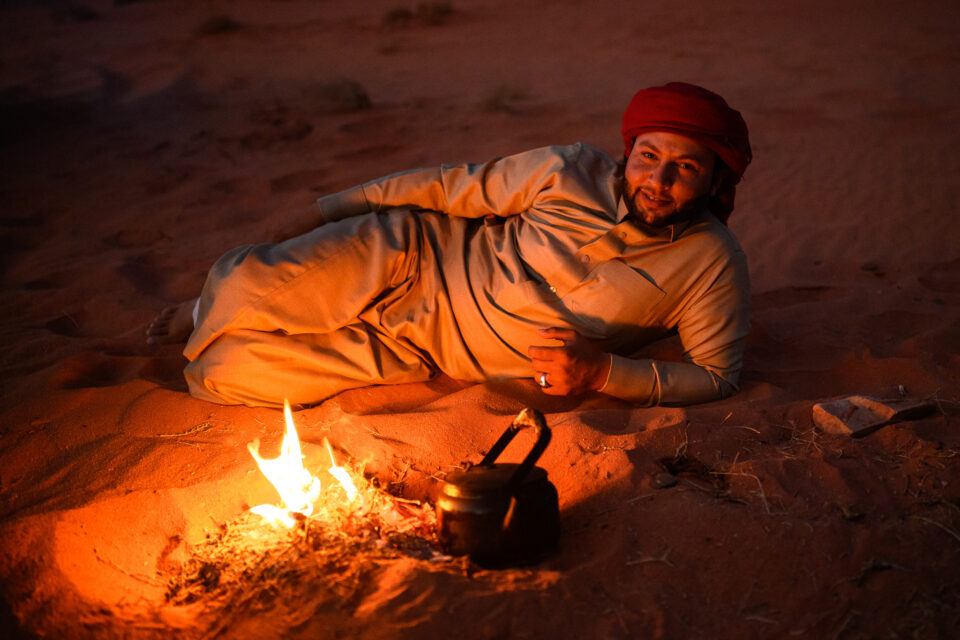 Portrait of a bedouin at night. Captured with Nikon Z 35mm f/1.8 S lens.