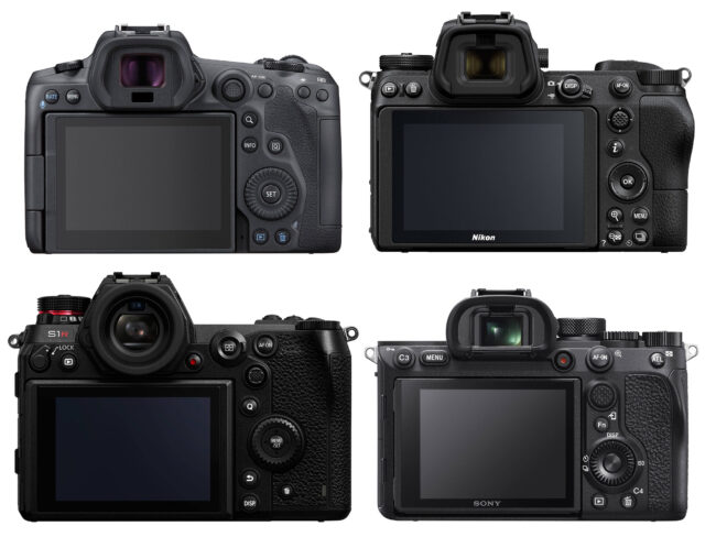 Canon EOS R5 vs Nikon Z7 II vs Panasonic S1R vs Sony A7R IV Back
