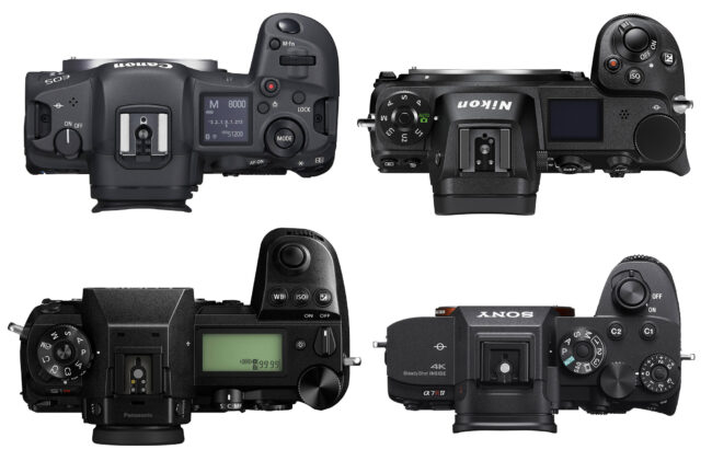 Canon EOS R5 vs Nikon Z7 II vs Panasonic S1R vs Sony A7R IV Top