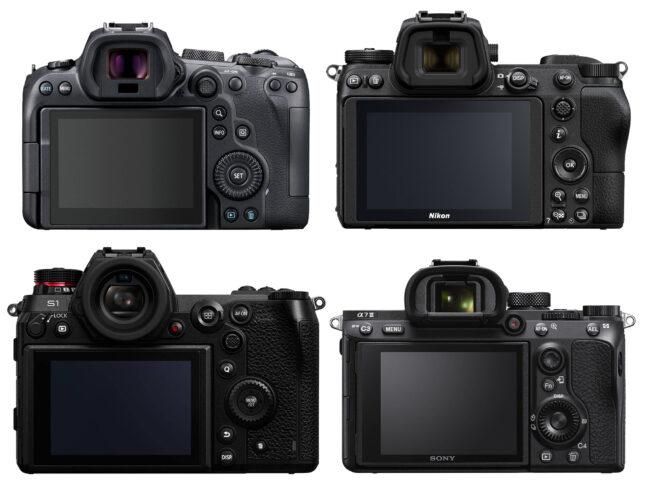 Canon EOS R6 vs Nikon Z6 II vs Panasonic S1 vs Sony A7 III Back