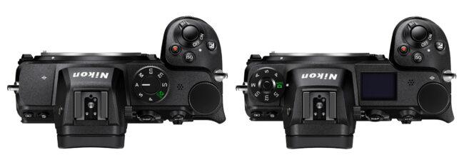 Nikon Z5 vs Z6 Top