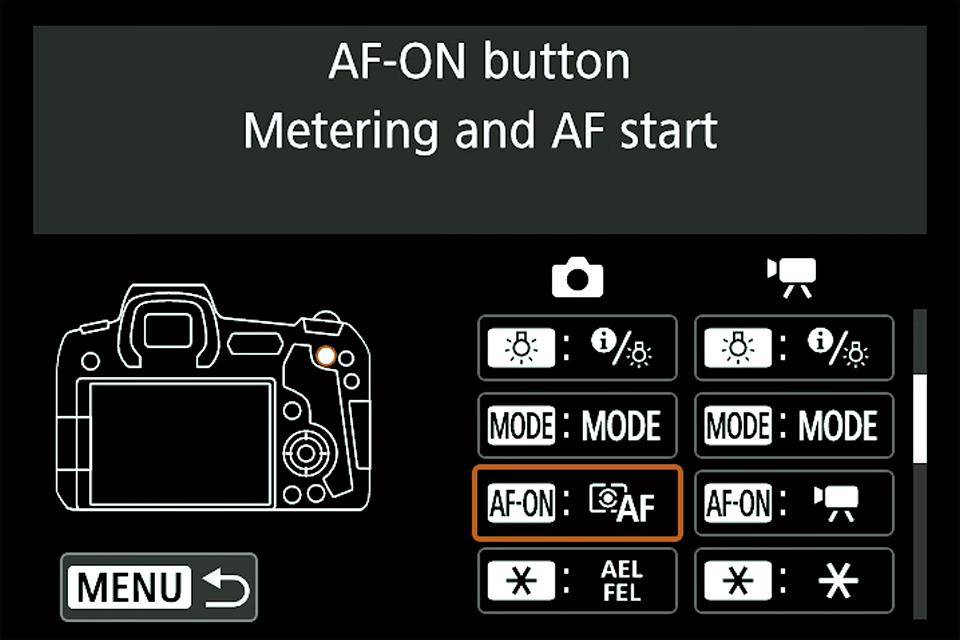 Canon Custom Controls Mirrorless
