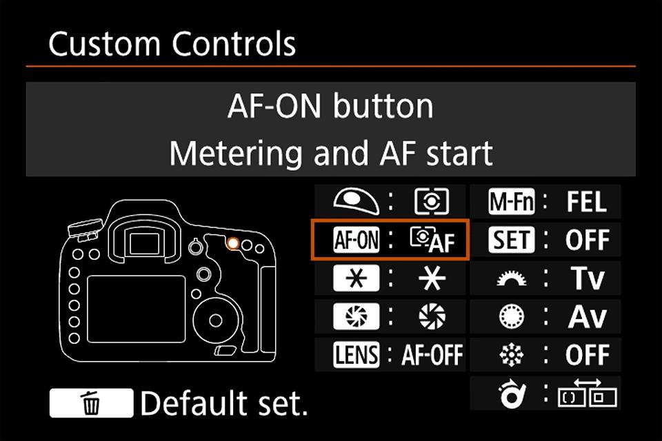 Canon Custom Controls