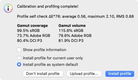ASUS ProArt PA278QV sRGB Gamut Coverage
