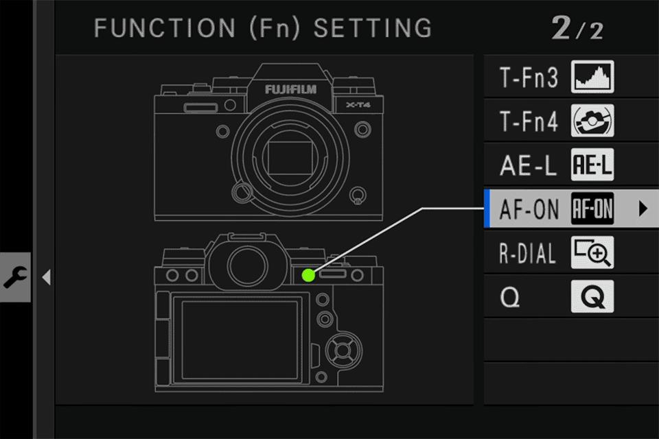 Fuji AF-ON Button