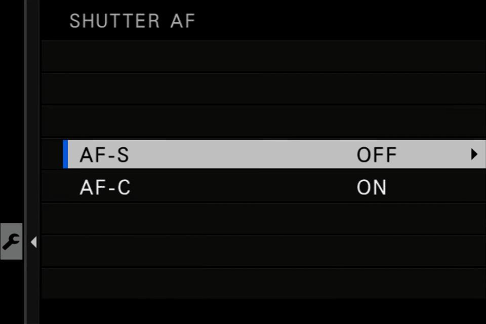 Fuji Shutter AF AF-S OFF