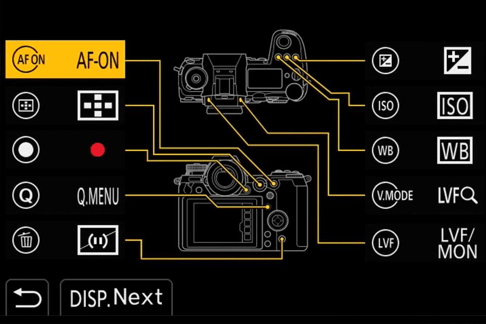 Panasonic S1 AF-ON Button Menu