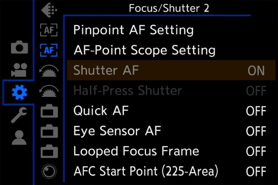Panasonic S1 Shutter AF