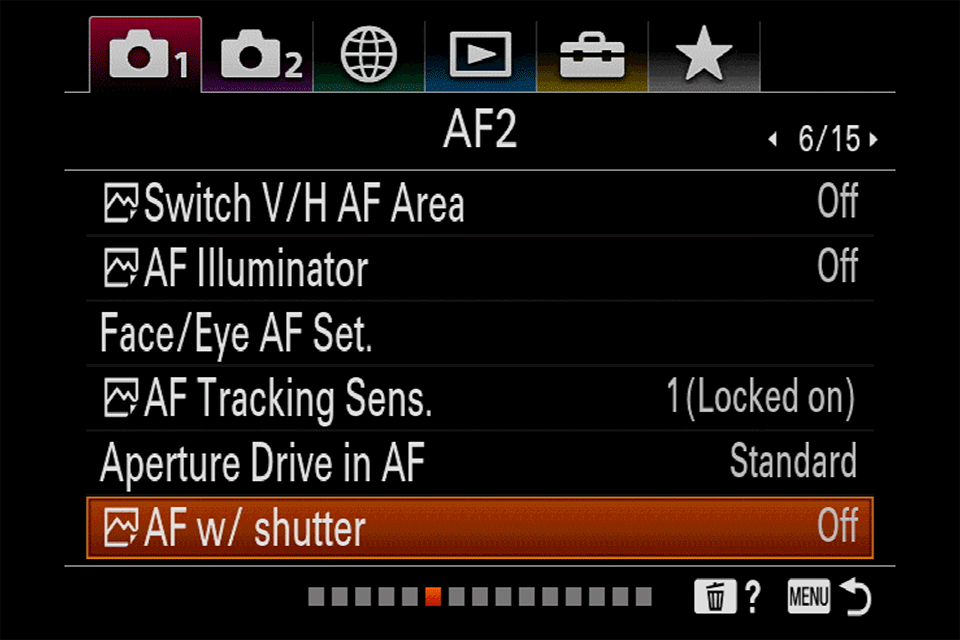 Sony AF with Shutter