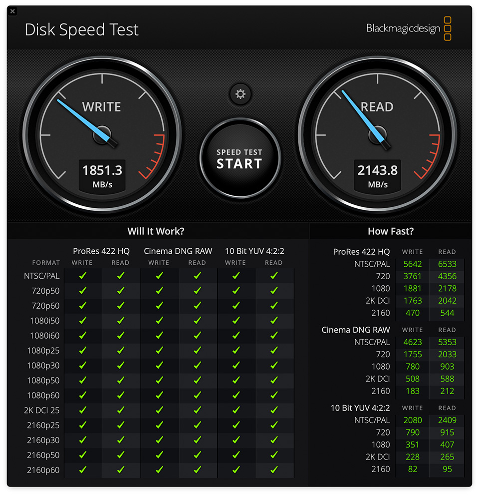 MacBook Pro 2016 Storage Performance