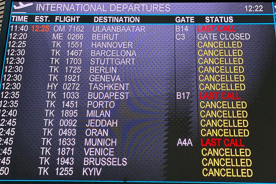 Istanbul Airport Departures