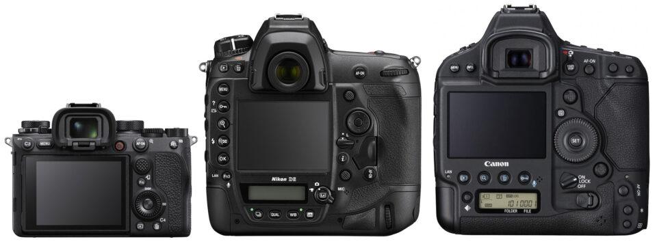 Sony A1 vs Nikon D6 vs Canon 1D X Mark III Back