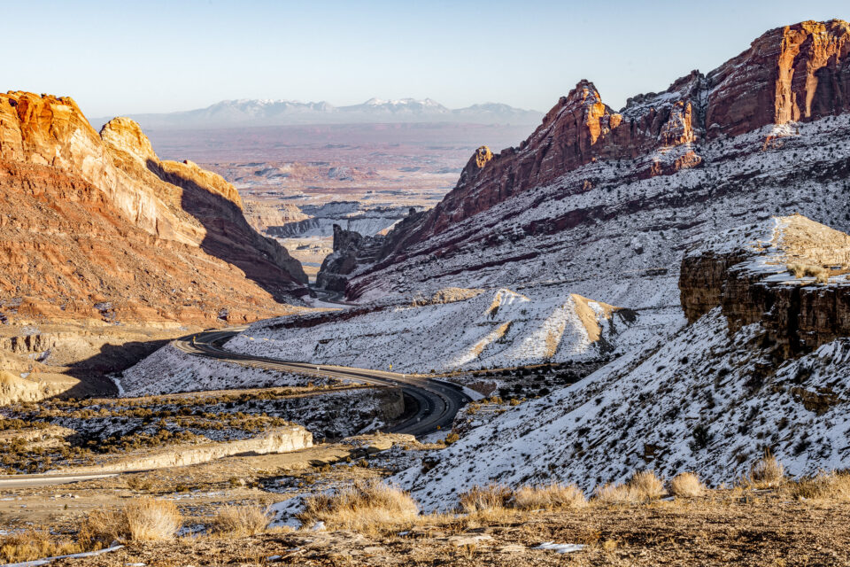 View of La Sal Mountains