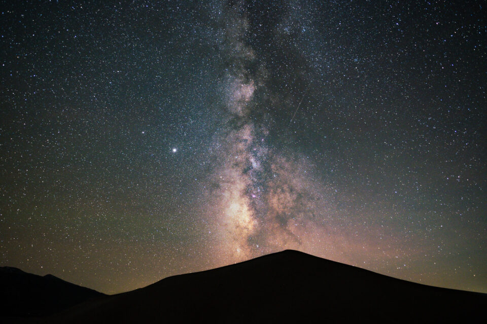 Sample Milky Way landscape photo