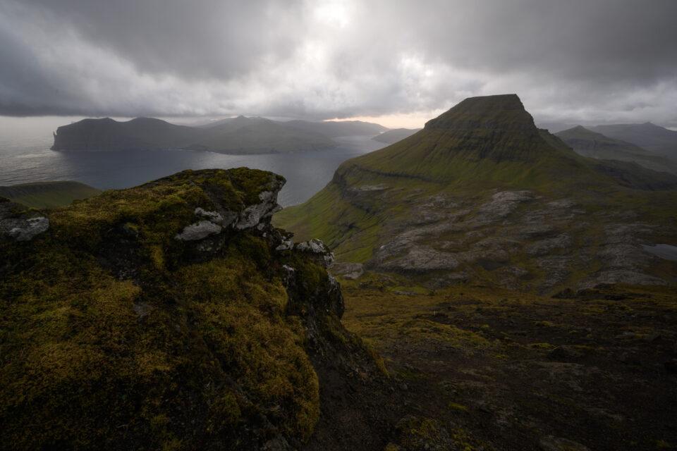 Overcast sky over the Faroe Islands