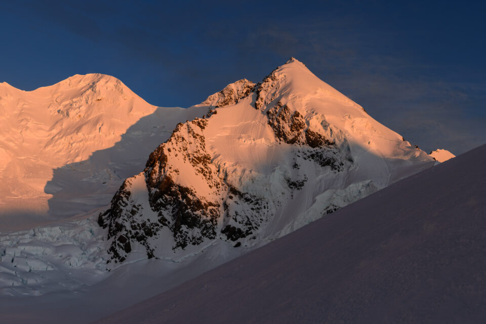 Sunrise photo of a mountain with alpenglow