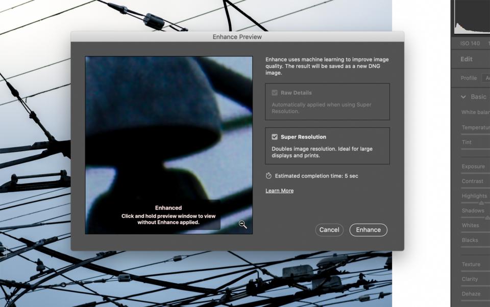 Adobe Super Resolution Options