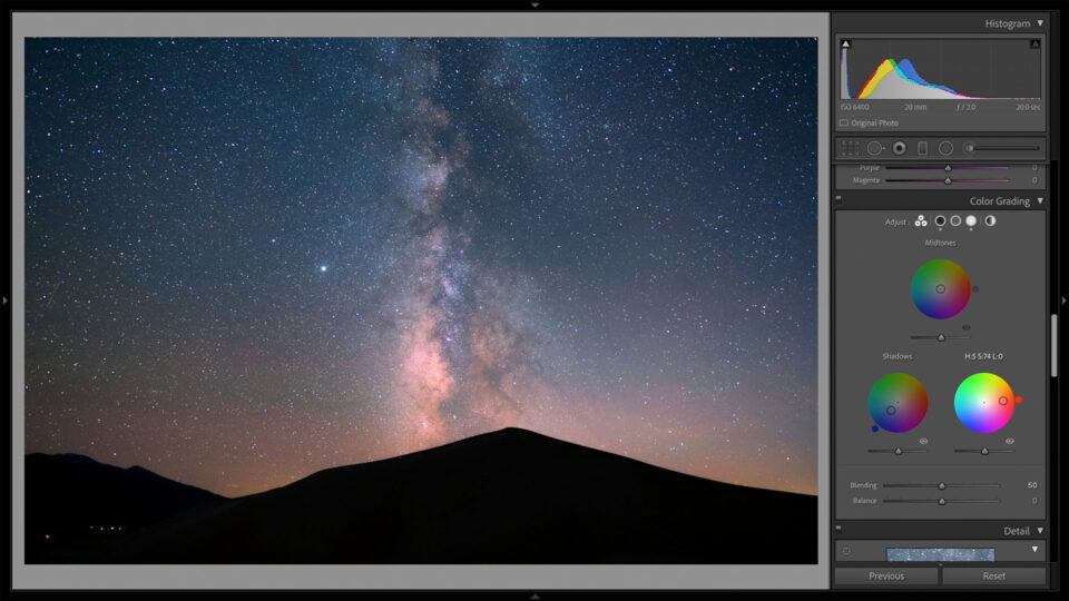 Bad Colors When Choosing Highlight Color Grading Adjustment for Milky Way Photo