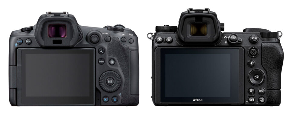 Canon EOS R5 vs Nikon Z7 II Rear Controls and Button Layout