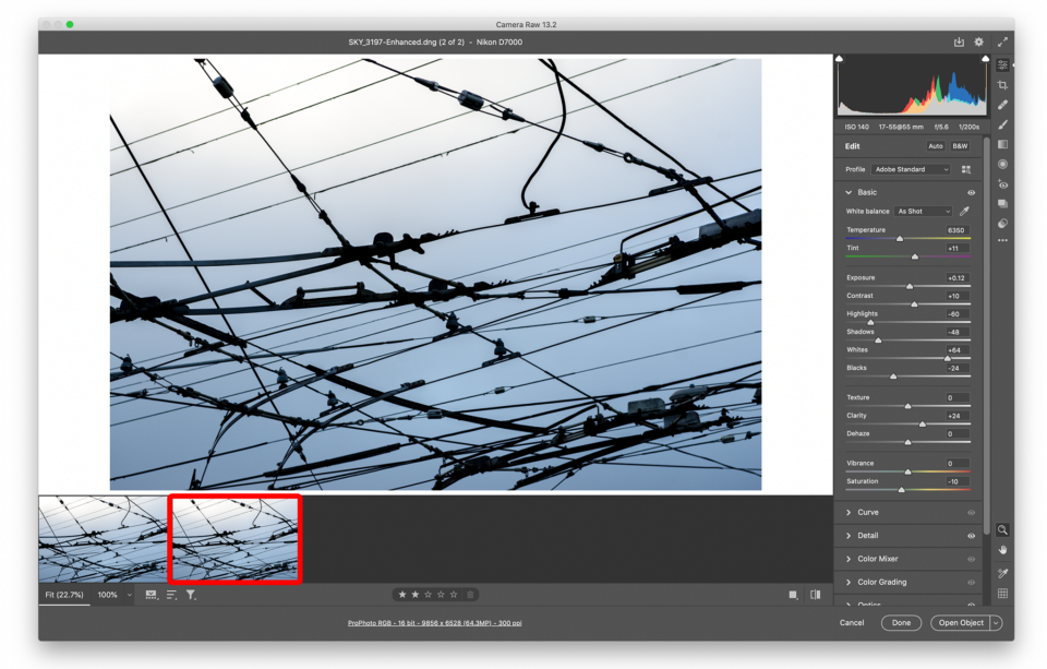 Click on the second image to select Adobe Super Resolution version