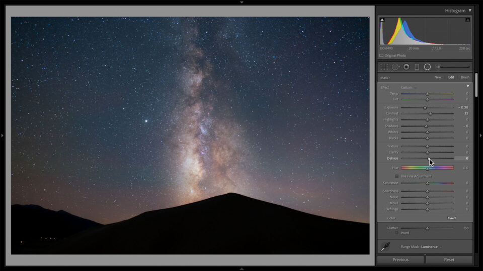 Make the Milky Way Pop by Darkening the Areas Around it in Post-Processing