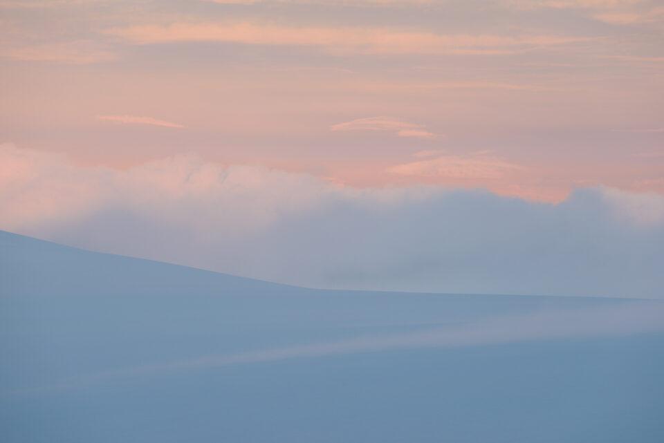 Minimalist mountain with smooth texture