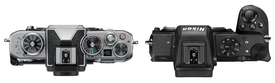 Nikon Zfc vs Z50 Top Control Layout