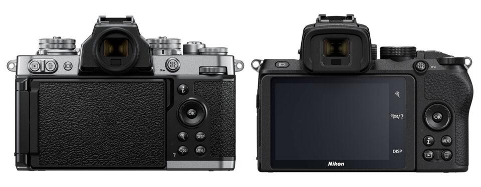 Nikon Zfc vs Z50 rear control layout