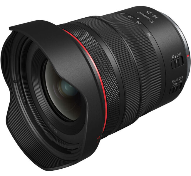 Canon RF 14-35mm f4 IS with Lens Hood