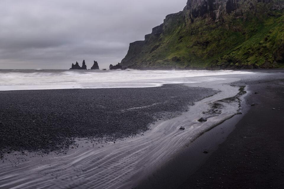 Windy Beach in Iceland