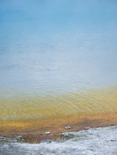Yellowstone Hot Spring Color Gradient