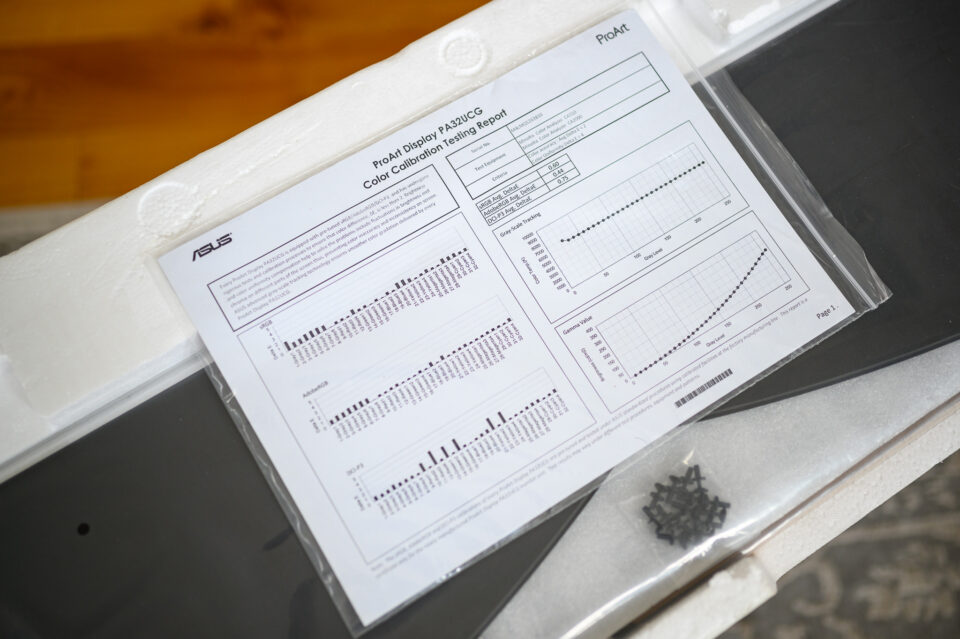 ASUS ProArt PA32UCG Monitor Factory Calibration Report
