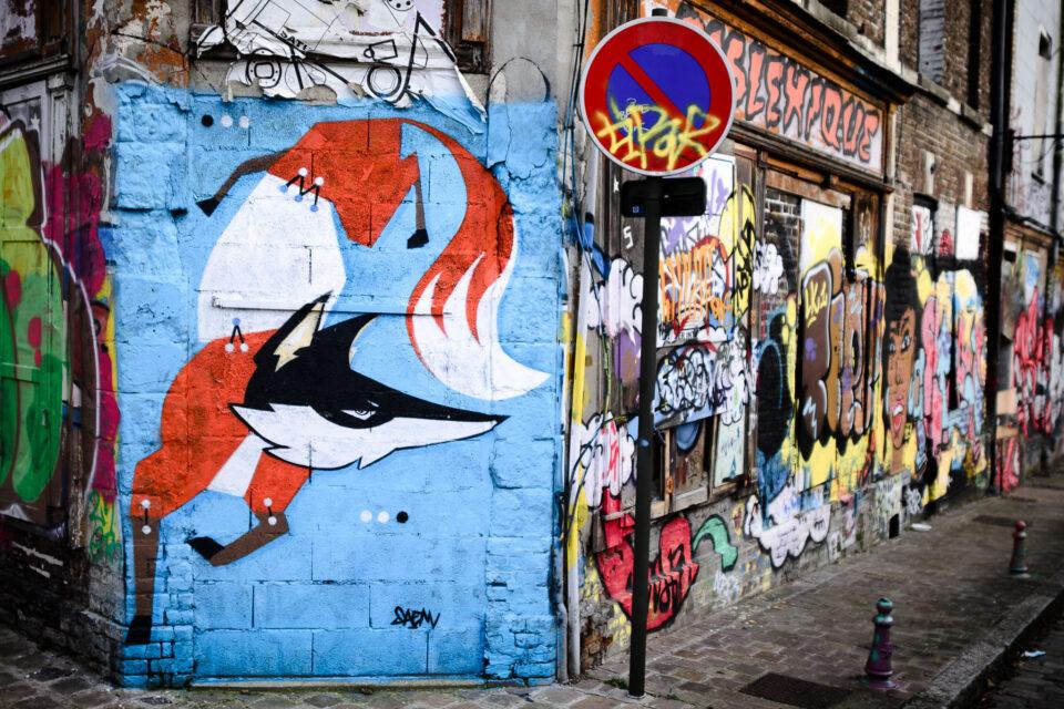 Fox Graffiti in Amiens
