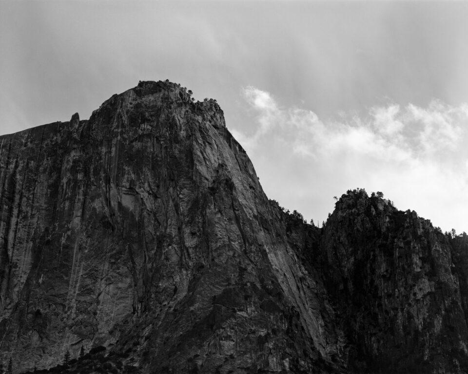 Teleobjetivo Yosemite en blanco y negro 4x5