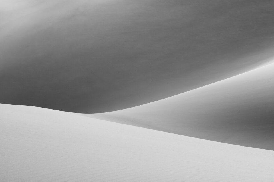 2016 Dunas de arena en blanco y negro
