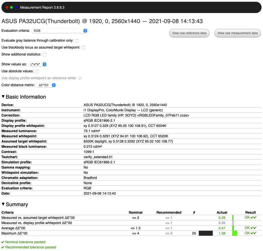 PA32UCG sRGB After Calibration